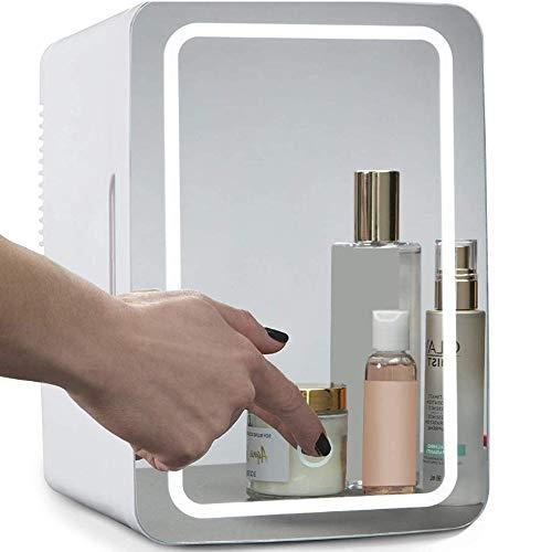 ZRZJBX Mini Refrigerador Portátil/Pequeña Nevera,8L Congelador Cosmético con Tres Pisos, para Maquillaje Y Cuidado La Piel, Sala, Automóvil Bar Refrigerador Silencioso