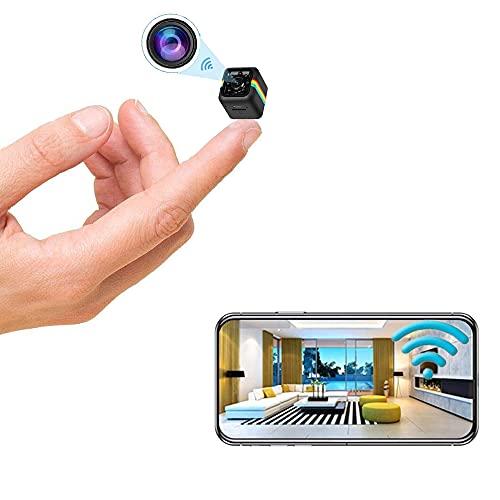 Mini Camera Wireless Camera WiFi Camera Nanny Cam, 1080p / 2K HD Camera Home...