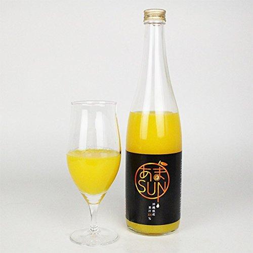 沖縄産あまSUN100%720ml×1本 沖縄アロエ 沖縄県産果汁100% あまSUNジュース 12月収穫の高級柑橘 糖度が高く果汁100%の濃厚なジュース ギフトやお土産にも