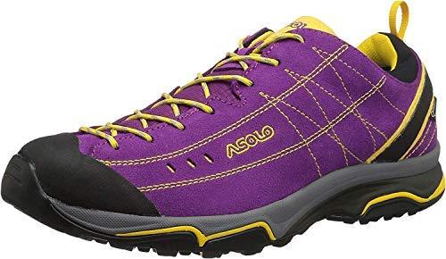 Asolo Women's Nucleon GV Hiking Shoe Verbena/Yellow 8.5