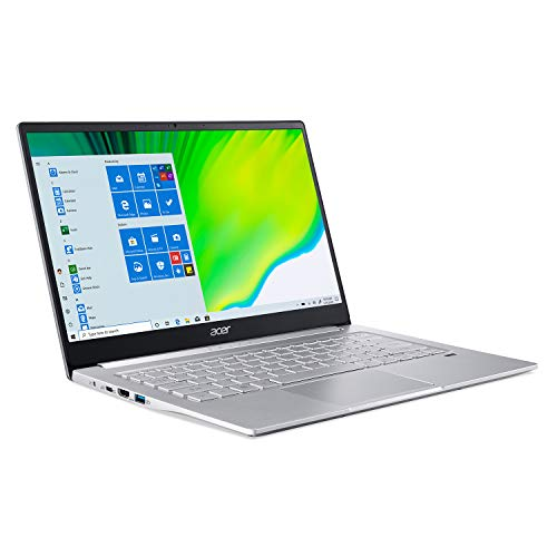 Acer Swift 3 Thin & Light Laptop, 14' Full HD IPS, AMD Ryzen 5 4500U Hexa-Core Processor with Radeon Graphics, 8GB LPDDR4, 256GB NVMe SSD, WiFi 6, Backlit Keyboard, Fingerprint Reader, SF314-42-R7LH