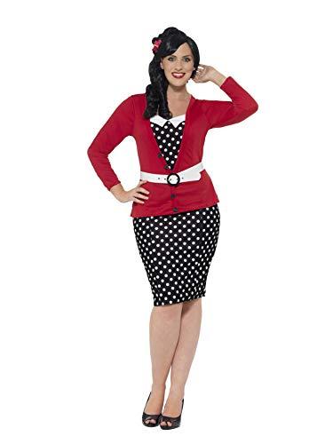 Smiffy 's–Disfraz de pin up para la Mujer Plus Size 1950(x3)