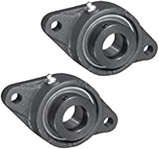 2x 1 1/4 in 2-Bolts Flange Cast Iron SAFL207-20 Mounted Bearing SA207-20G+FL207