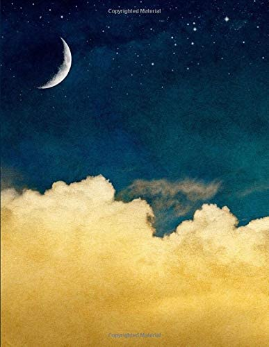 Huge Notebook 300 Lined Pages Night Sky Theme 8 5 x 11 in with Table of Contents and Page Numbers product image
