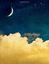 Huge Notebook | 300 Lined Pages, Night Sky Theme: 8.5 x 11 in, with Table of Contents and Page Numbers, Golding's Large Journal Series