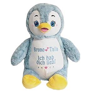 Cubbies Stofftier Pinguin individuell bestickt für Geburt Taufe Geburtstag