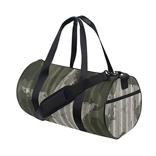ZOMOY Sporttasche,Sterne Khaki Creme Digital Primitive Wall West Design,Neue Bedruckte Eimer Sporttasche Fitness Taschen Reisetasche Gepäck Leinwand Handtasche