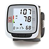 Ever Ready First Aid Fully Automatic Blood Pressure Wrist Cuff Watch Wearable Monitor - Black- Batteries Included
