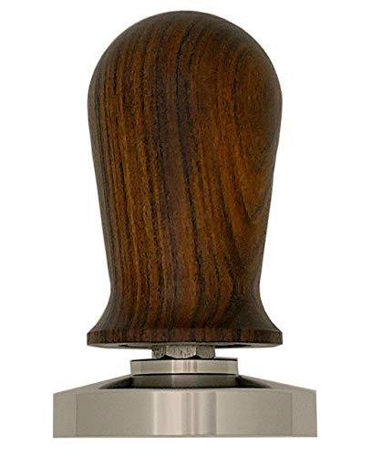 Foop - Kaffee Tamper Druckregulierend 58 mm Edelstahl, ergonomischer Edelholzgriff - Siebträger Zubehör