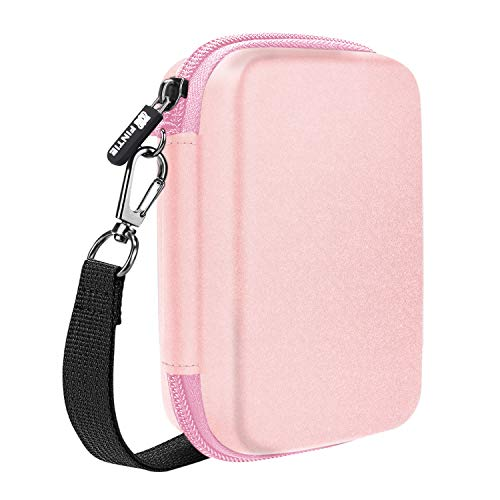 Fintie Carry Case Compatible with Polaroid Snap/Snap Touch Instant Camera, Polaroid Zip/HP Sprocket 2nd Edition Printer, HP Sprocket 2-in-1, Hard EVA Shockproof Storage Travel Bag (Rose Gold)