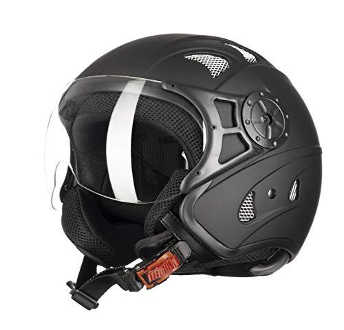 Westt Razor · Casco Moto Jet Negro Mate Scooter Vespa Chopper · Casc