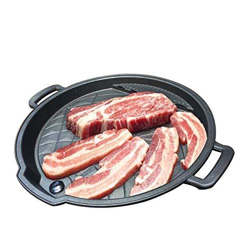 Poêle à frire anti-adhésive réversible avec revêtement anti-adhésif pour gaz, plaques à induction, plaques électriques, cuisson, pizza, rondes, avec plaque de Cuisson ronde 32 cm pour usage domestique