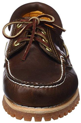Timberland Timberland Herren Authentics 3 Eye Classic Bootsschuhe, Braun (Brown Pull Up), 40 EU