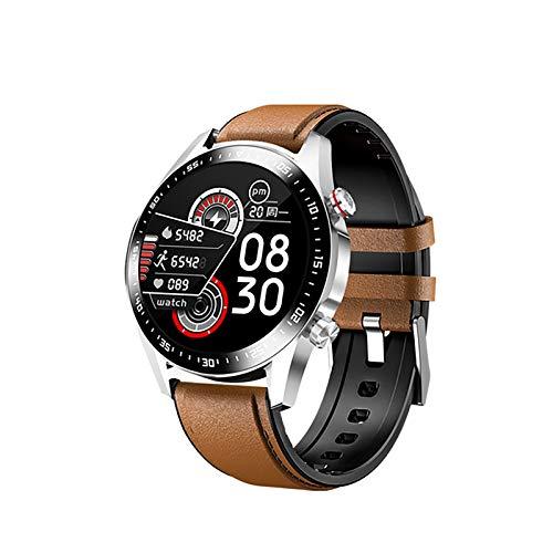 ZGZYL E1-2 Reloj Inteligente Rate Cardy Rate Sleep Monitoring Bluetooth Llamada Pantalla Táctil Completa Smart's Smartwatch Apto para Android iOS Deportes Aptitud Pulsera,E