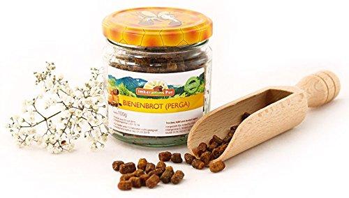 Bienenbrot / Perga von ImkerPur®, 100 g, komplett rückstandsfrei und ohne Zusätze, fermentierter Blütenpollen