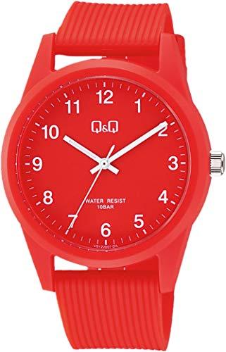 [シチズン Q&Q] 腕時計 アナログ 防水 ウレタンベルト VS40-007 レッド