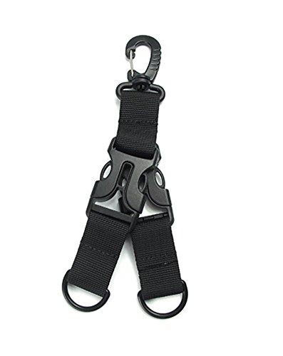 Clip tactique de mousqueton de vitesse, sangle multifonctionnelle en nylon, accrochant la boucle porte-clés de ceinture compatible, accessoires de sac à dos, porte-clés, activités de plein air (05Pack2)