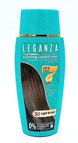 Leganza colorare condizionatore a colori 30 marrone chiaro con 7 oli naturali ammoniaca e Paraben Free