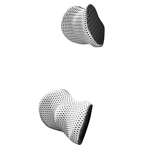 CZYHP Juego de almohada para reposacabezas de coche, soporte para el cuello, espuma viscoelástica, silla de oficina, asiento de coche, reposacabezas y soporte lumbar, gris oscuro+gris claro