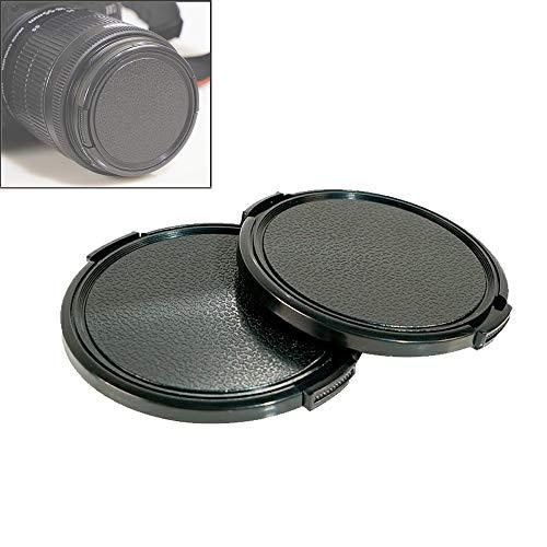 Lot de 2 capuchons d'objectif 49 mm pour Sony A7RIV A7III A6600 A6500 A5100 pour Sony FE 50 mm f/1.8, E 35 mm f/1.8, E 55-210 mm f/4.5-6.3, E 20 mm f/2.8