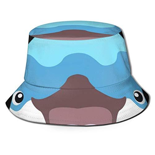 Lawenp Sombrero de Cubo de delfín Unisex Plegable de Verano Cubo de Viaje Boonie Sombrero de Sol Gorra de Pescador al Aire Libre