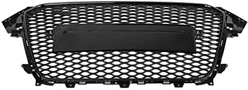 Zaaqio Honeycomb Hood Grille, 1 Pcs For RS4 Style Front Sport Hex Grill Gloss Black For A4 / S4 B 8.5 2013 2014 2015 2016 Car Accessories