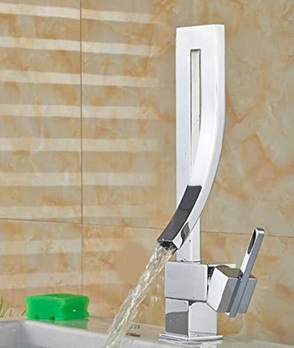 JYHW Grifo de cocina con estilo moderno Agua fría y caliente Cubierta de curva única Mezclador Moute Grifo de baño Torneiras Para Pia De Banheiro CROMO