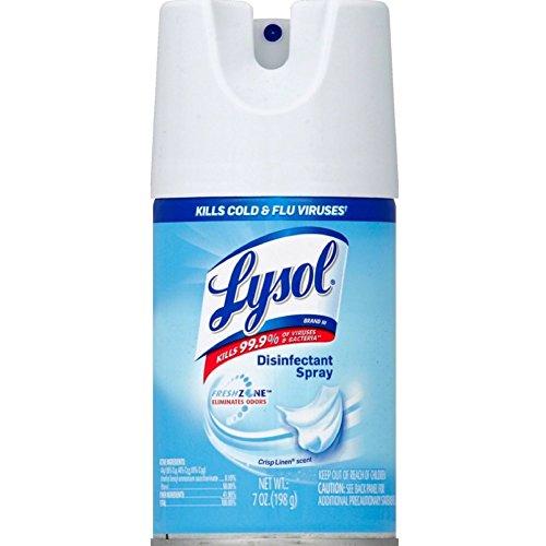 Lysol Disinfectant Spray, Crisp Linen, 7 Ounce (Pack of 2)