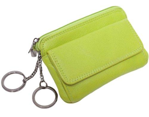 Josephine Osthoff Handtaschen-Manufaktur Leder Schlüsselbörse Sport - Limone - handgefertigt Schlüsseletui Schlüsseltasche Geldbörse Kiwi apfelgrün Limone