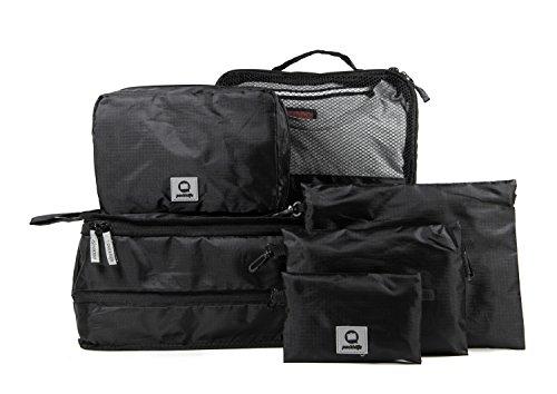 HAUPTSTADTKOFFER - Packhilfe – Koffer Reise-Organizer Set 6-teilig, mobiler Kleiderschrank + multifunktionale Packtasche (M), Kosmetiktasche, 3 kleine Utensilien-Taschen