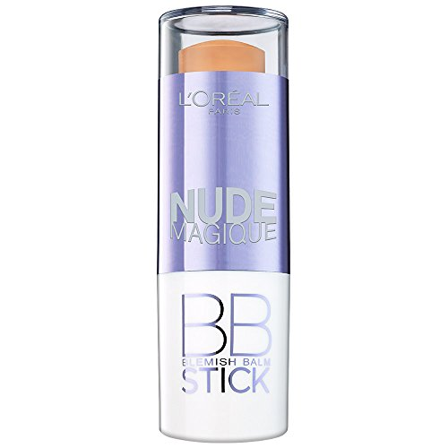 L'Oréal Paris Make Up Nude Magique BB Stick, 01 Light / Pflegender deckender Blemish Balm Puderstick mit angesagtem Matt-Effekt / 1er Pack