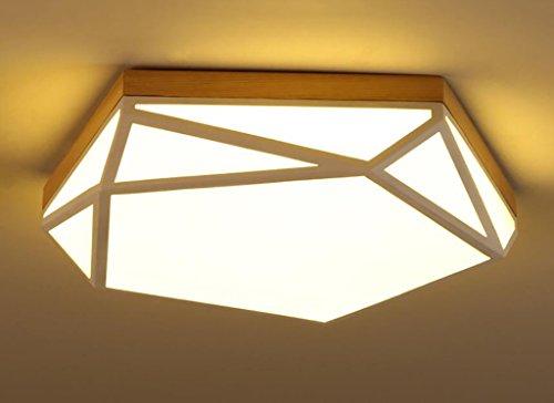 Preisvergleich Produktbild Cdbl -Deckenleuchte LED-Deckenleuchte kreative Wohnzimmer Balkon Eingang Japanische Massivholz Deckenlampe Acryl-Deckenleuchte Schlafzimmer Deckenleuchten (größe : 52 * 11cm)