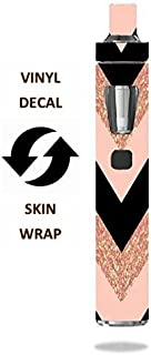 Decal Sticker Skin WRAP - Joyetech eGo AIO - Pink Black Chevron (not Real Glitter)