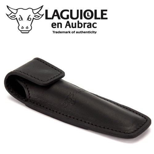 Unbekannt Laguiole en Aubrac ECA schwarzes Gürteletui aus Leder für ein Taschenmesser