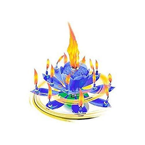 h2i Lot de 1 à 3 bougies musicales « Happy Birthday » en rose, jaune, bleu et mélange - Catégorie : F1