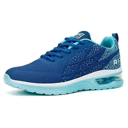 Crossfit Running Shoes for Women Tennis Shoes Sport Air Cushion Sneakers Navy Teal Size 9.5