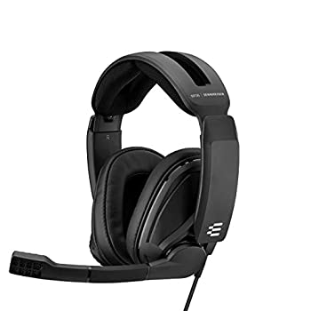 EPOS I Sennheiser GSP 302 Gaming Headset with Noise-Cancelling Mic Flip-to-Mute Comfortable Memory Foam Ear Pads Headphones for PC Mac Xbox One PS4 Nintendo Switch and Smartphone compatible.