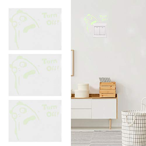 Zunate Pegatina para Interruptor de luz, Pegatinas de Pared Luminosas con Forma de Animal de 5.9 x 4.7 Pulgadas, Pegatinas de decoración de Pared de PVC Autoadhesivas extraíbles, para habitación