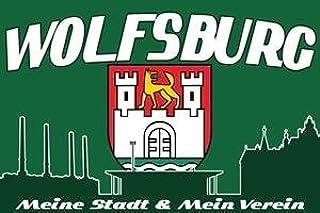 Wolfsburg Meine Stadt Mein Verein Fahne Flagge Grösse 1,50 x 0,90m - FRIP –Versand