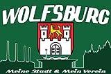 Wolfsburg Meine Stadt Mein Verein Fahne Flagge Grösse 1,50 x 0,90m - FRIP –Versand®