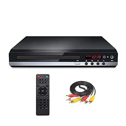 Reproductor de DVD, HD DVD 229, reproductor de CD EVD (escalado de 1080p, cable HDMI/AV, entrada USB, WMA/MP3/JPG/VOB, reproducción Dolby Digital, todas las regiones libres).