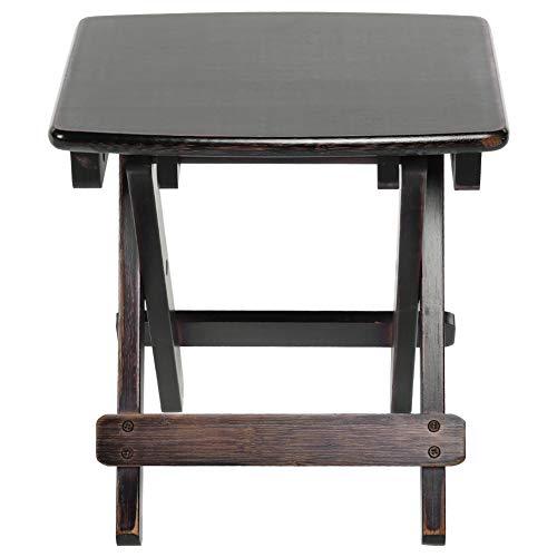 Taburete plegable plegable de 32,5 x 25 x 35 cm, suave con bambú para pesca, hogar, dormitorio, cocina, jardín