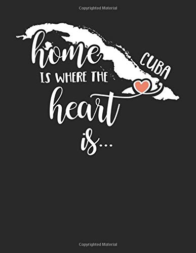 Cuba Home is Where the Heart is: 8.5 x 11 Cuba Notebook Journal College Ruled Paper Expats Originally Born Gift