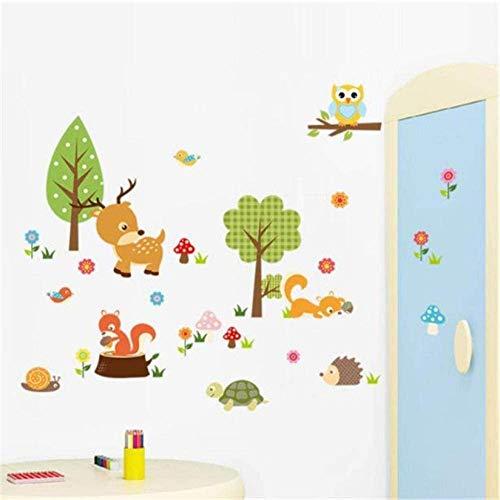 Stickers Muraux Bricolage Enfants Forêt Animaux Hibou Chambre D'Enfant Chambre Fond Pâte De Boue Chenille