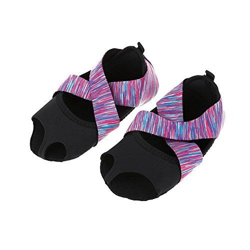Alomejor Calzado de Yoga y Calcetines de Yoga para Mujeres adecuados para fintess, Gimnasia, Correr, Hacer Ejercicio, Zapatos Antideslizantes de Deporte sin pies Pilates(L(39-40))