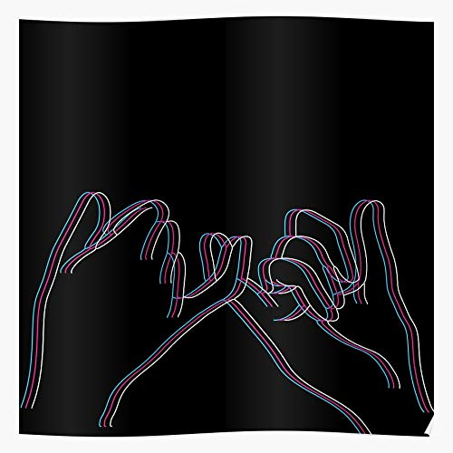 Promise Black Pinky White Pink Neon Sign Hand Home Decor Wandkunst drucken Poster !