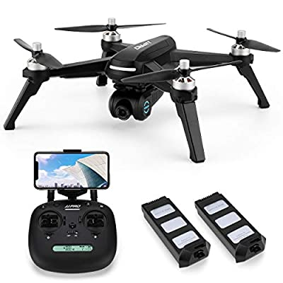 INKPOT JJRC JJPRO X5 Wifi GPS Drone with HD Camera Live video and GPS Return Home Quadcopter with Brushless Motor & 90°Adjustable Camera-Follow Me,Long Control Range, Altitude Hold Black