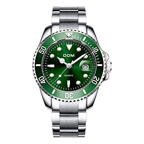 Top Marke Dom Luxus Herren Business Uhr 30m Edelstahl wasserdichte Datteluhr Herren Sportuhren Herren Quarz Armbanduhr-M-1263D-3M