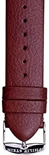Leather Watchband Fits Philip Stein Large Size 2, 20mmDark Chocolate Brown With Spring Bars - by JP Leatherworks