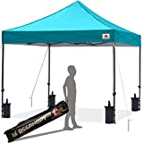 ABCCANOPY Pop up Canopy Tent Commercial Instant Shelter with Wheeled Carry Bag, Bonus Canopy Sand Bags (10x10, Turquoise)